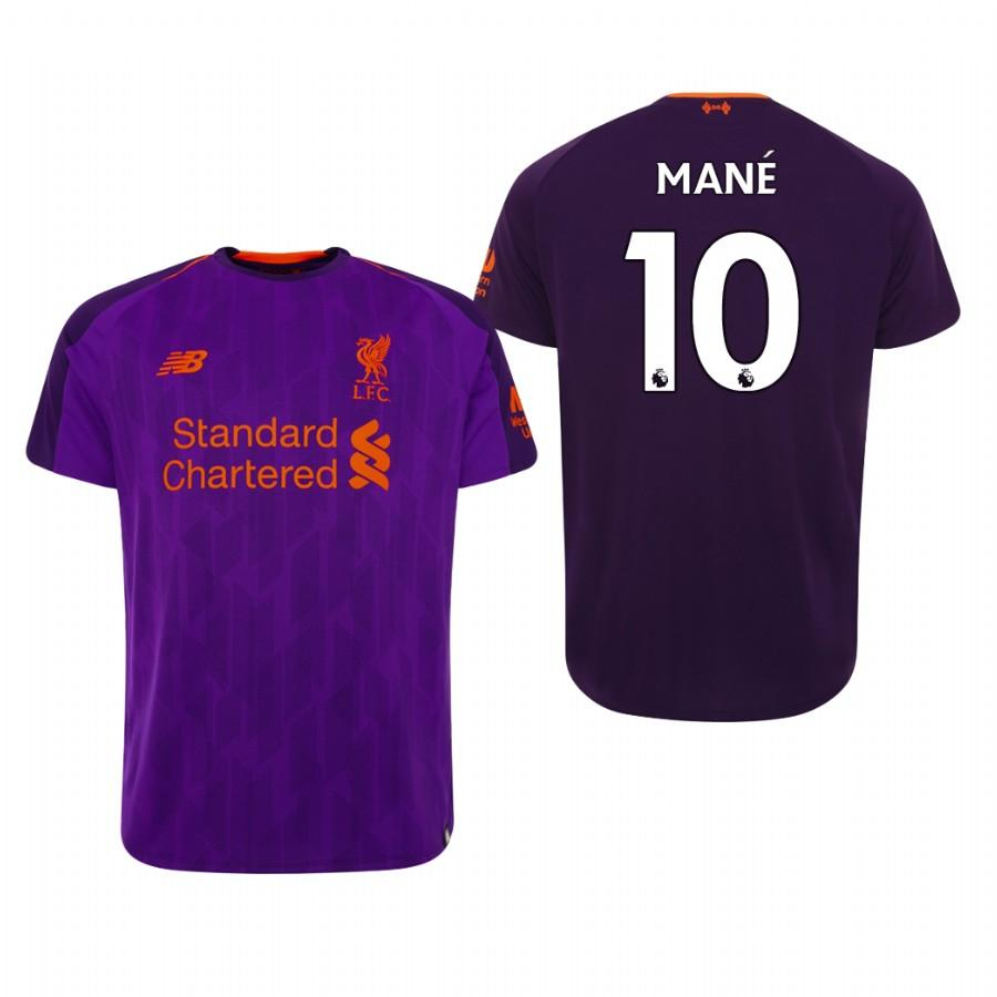 Liverpool 18-19 Purple Sadio Mane #10 Away Mens Jersey - S