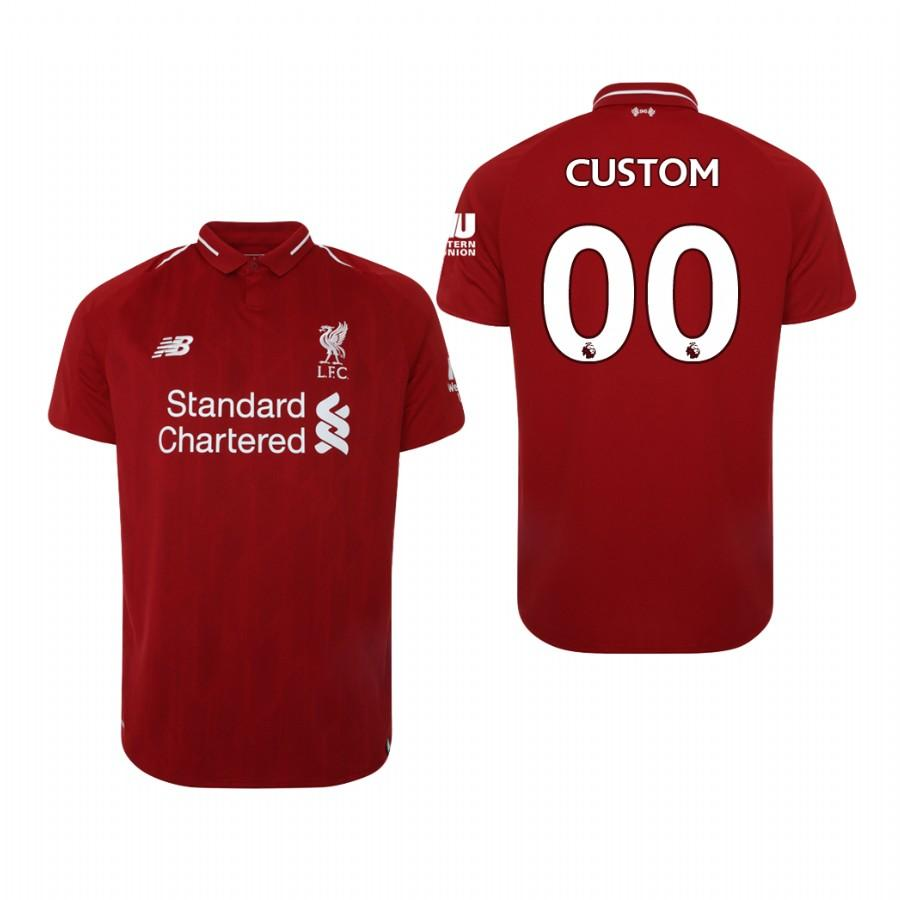 Liverpool 18-19 Red Custom Home Mens Jersey - S