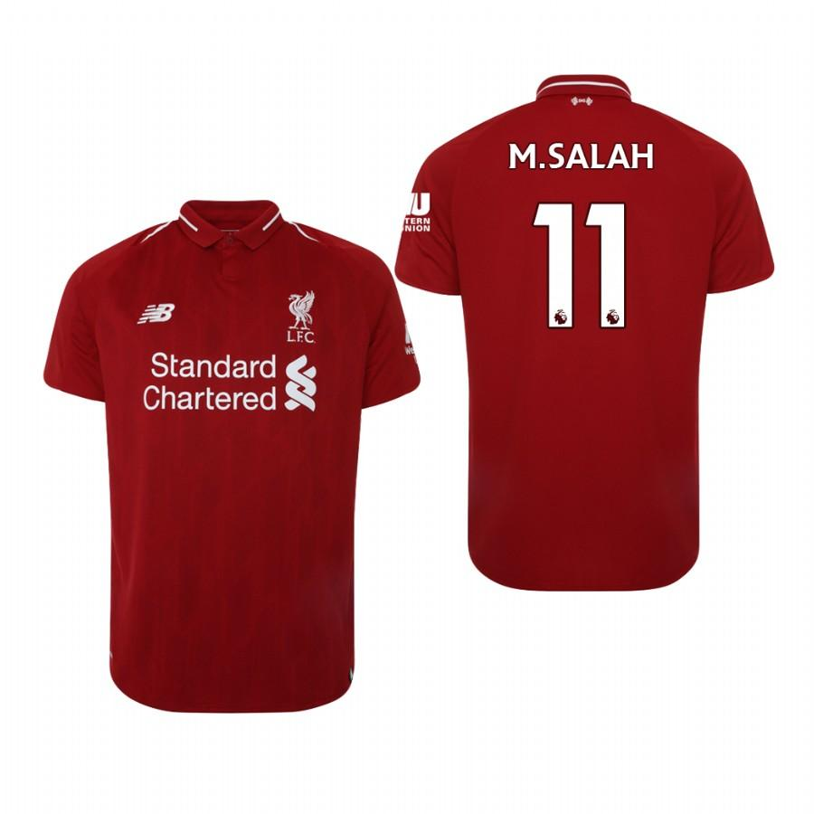 Liverpool 18-19 Red Mohamed Salah #11 Home Mens Jersey - S