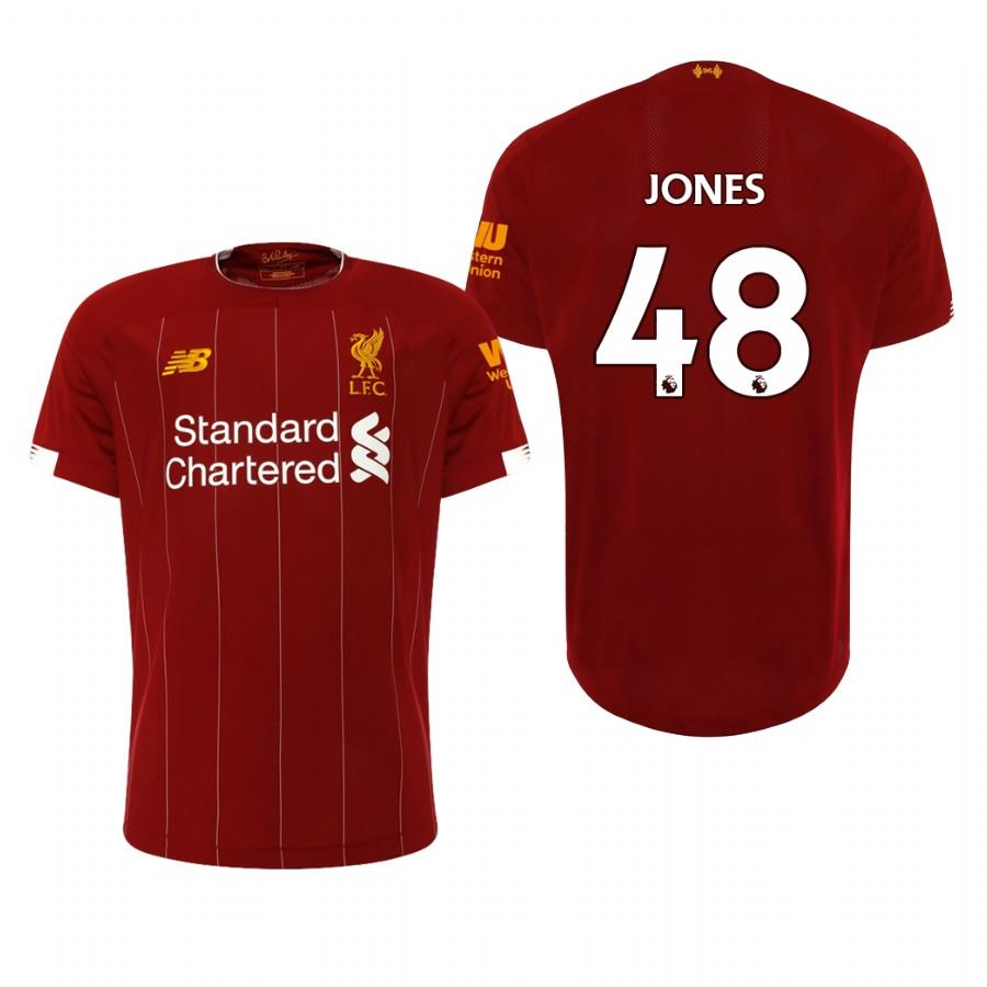 Liverpool 19-20 Curtis Jones #48 Official Red Home Mens Jersey - S