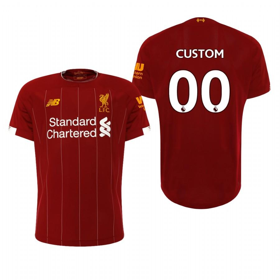 Liverpool 19-20 Custom Official Red Mens Home Jersey - S