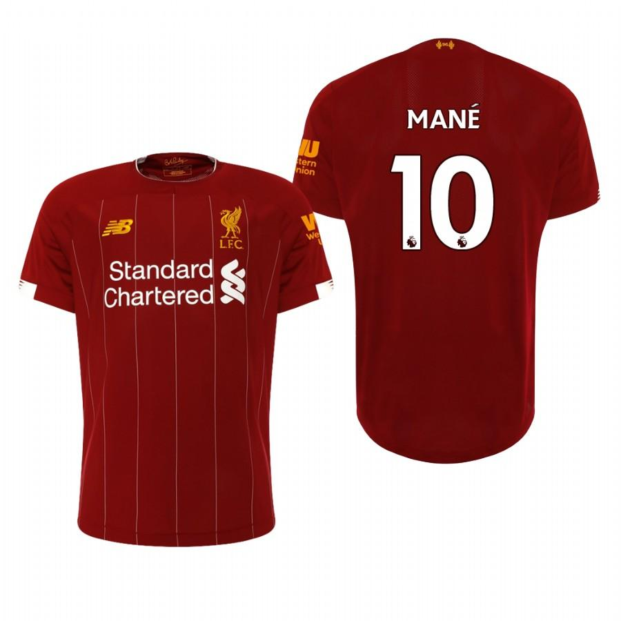 Liverpool 19-20 Sadio Mane #10 Official Red Mens Home Jersey - S