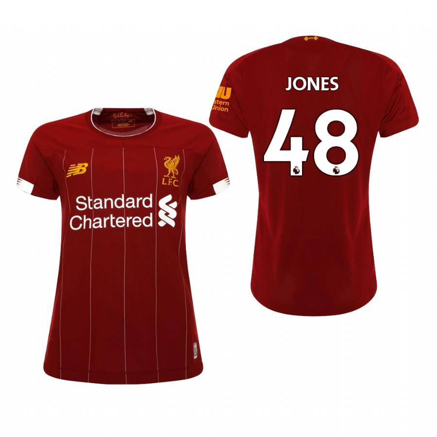 Liverpool Womens 19-20 Red Curtis Jones #48 Home Jersey - S