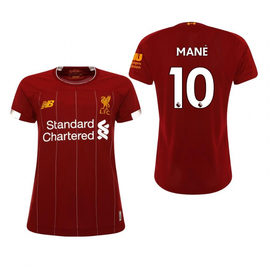 Liverpool Womens 19-20 Red Sadio Mane #10 Home Jersey - S