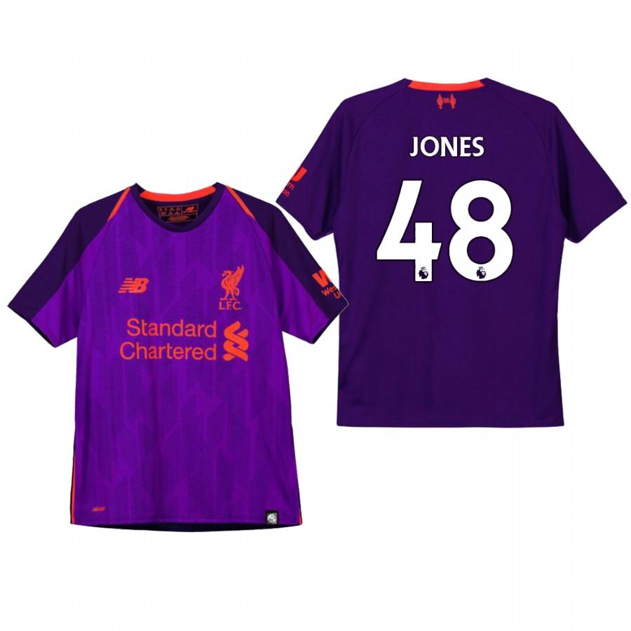 Liverpool Youth 18-19 Purple Curtis Jones #48 Away Jersey - XXS