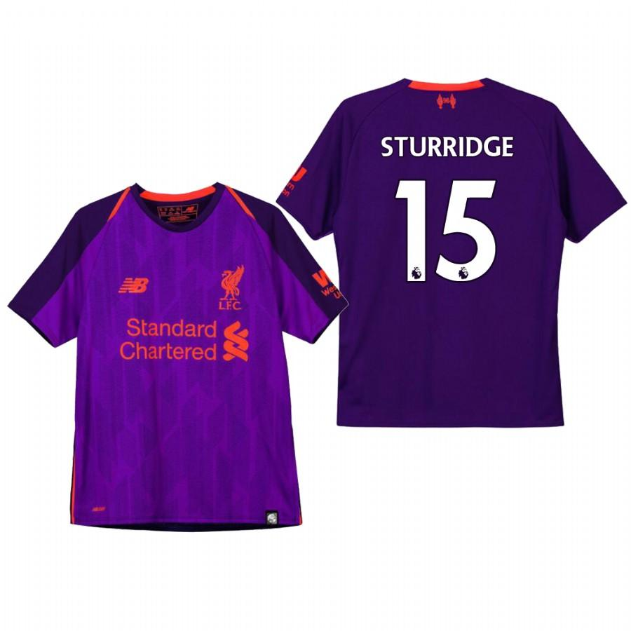 Liverpool Youth 18-19 Purple Daniel Sturridge #15 Away Jersey - XXS