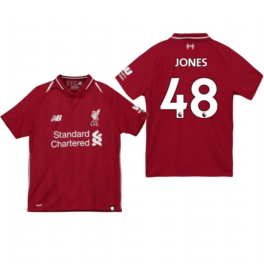 Liverpool Youth 18-19 Red Curtis Jones #48 Home Jersey - XXS