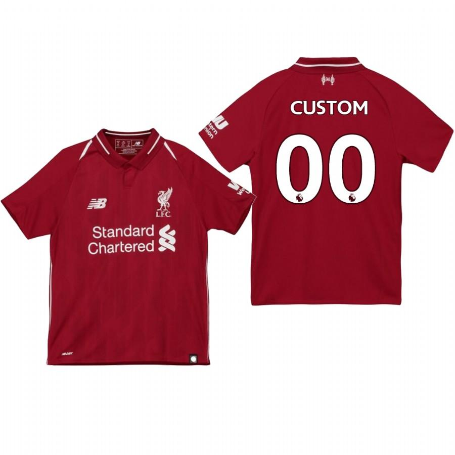 Liverpool Youth 18-19 Red Custom Home Jersey - XXS