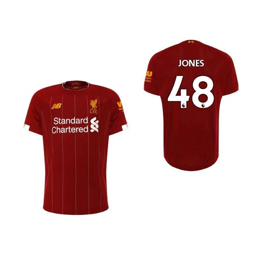 Liverpool Youth 19-20 Red Curtis Jones #48 Home Jersey - XXS