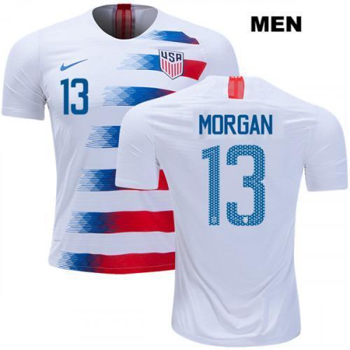 Mens Alex Morgan #13 Soccer 2019 USWNT Vapor Match White Jersey - S