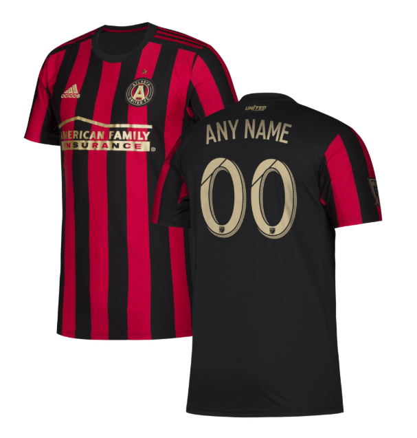 Mens Atlanta United FC Red 2019 Star and Stripes Custom Soccer Jerseys Name and Number Uniforms Shirts - S