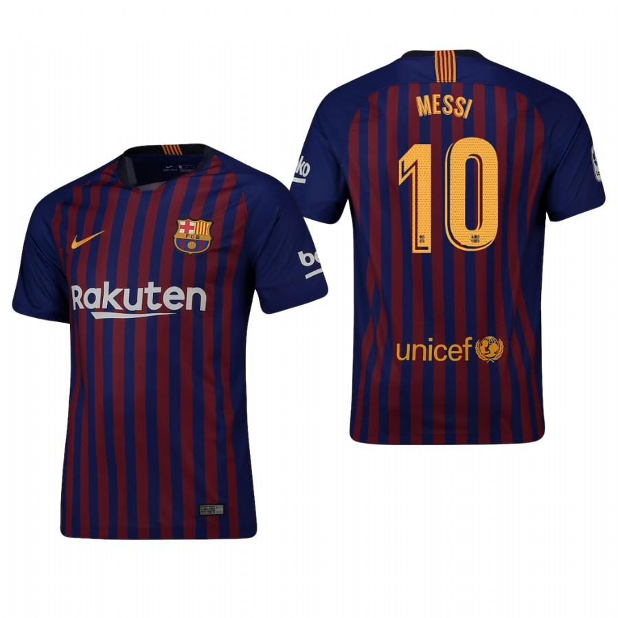Mens Barcelona 18-19 Blue Lionel Messi #10 Home Jersey - S