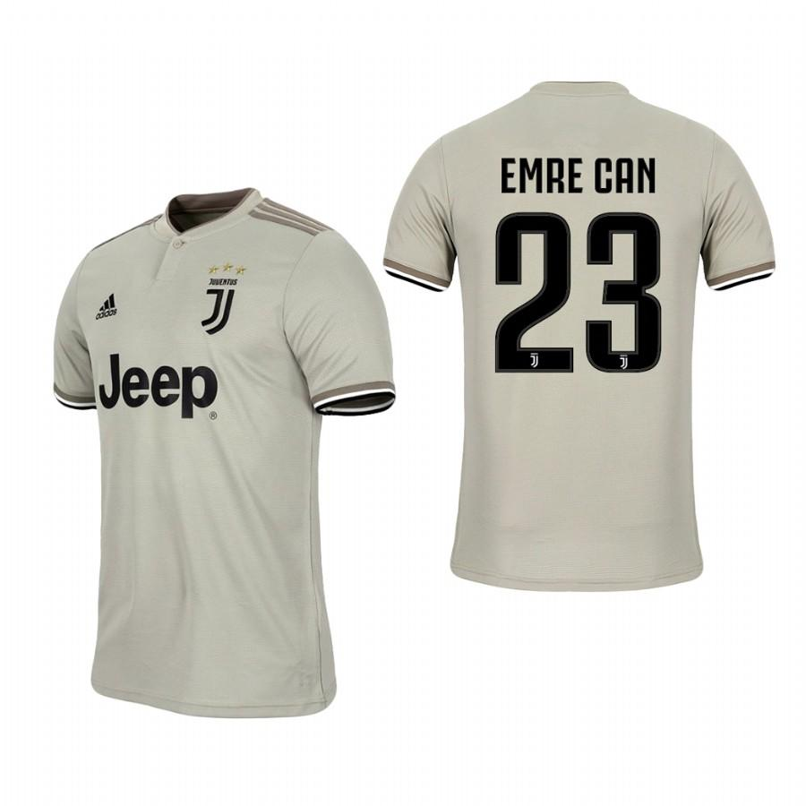 Mens Juventus 18-19 Tan Emre Can #23 Away Jersey - S