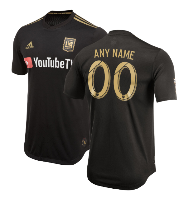 Mens LAFC Black 2018 Primary Custom Soccer Jerseys Name and Number Uniforms Shirts - S