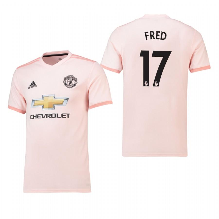 Mens Manchester United 18-19 Pink Fred #17 Away Jersey - S