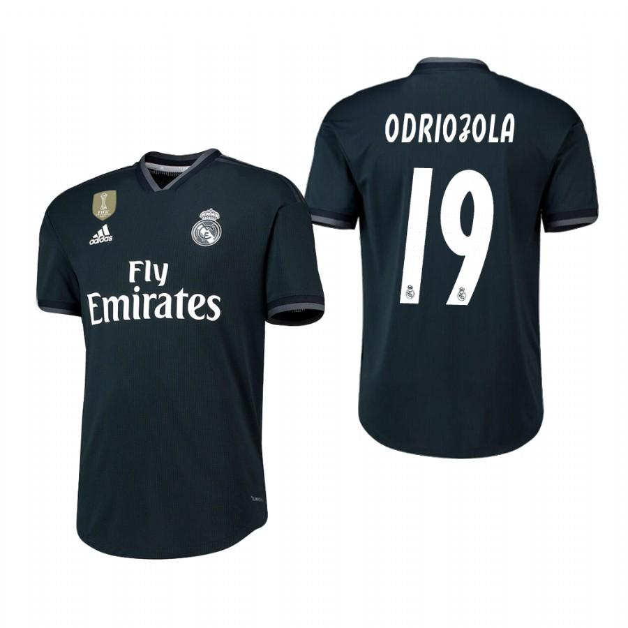 Real Madrid 18-19 Dark Navy Alvaro Odriozola #19 Away Jersey Mens - S
