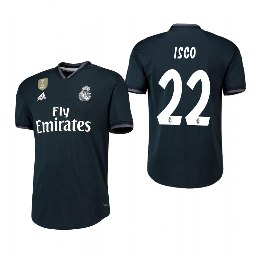Real Madrid 18-19 Dark Navy Isco #22 Away Jersey Mens - S