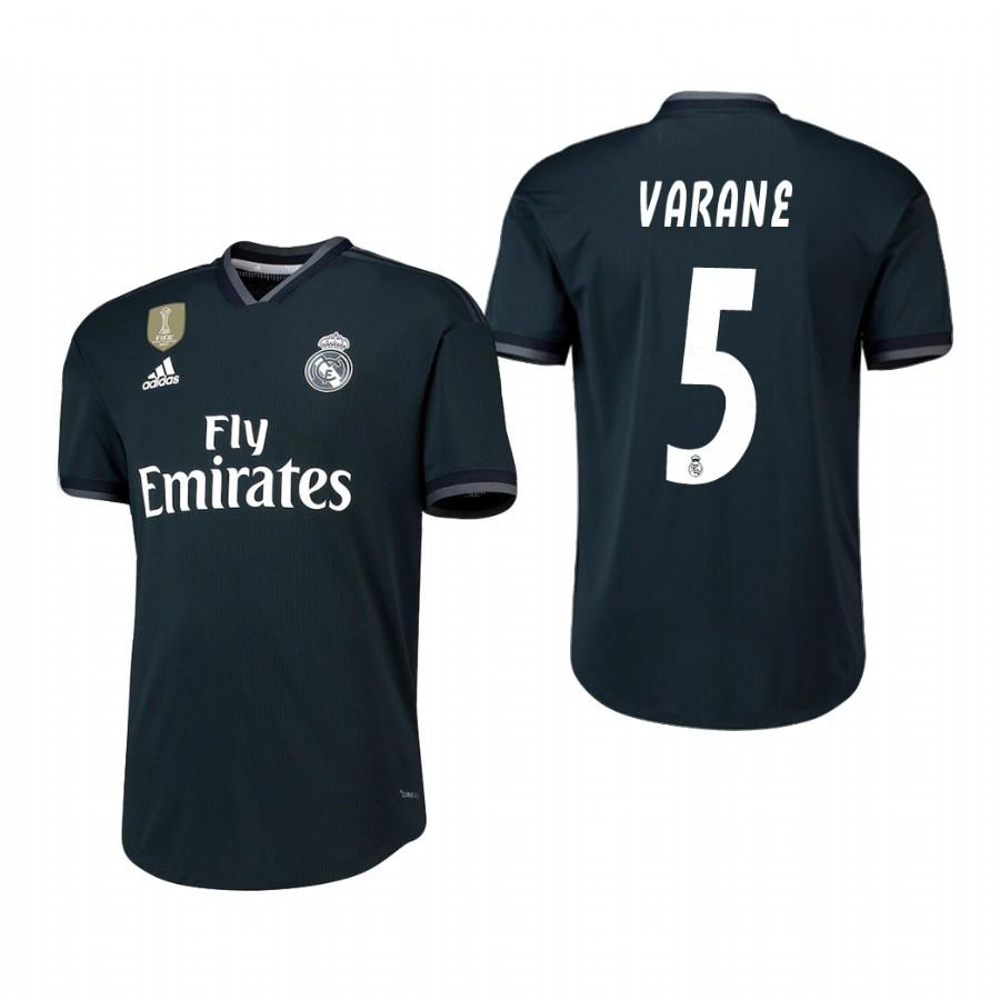 Real Madrid 18-19 Dark Navy Raphael Varane #5 Away Jersey Mens - S