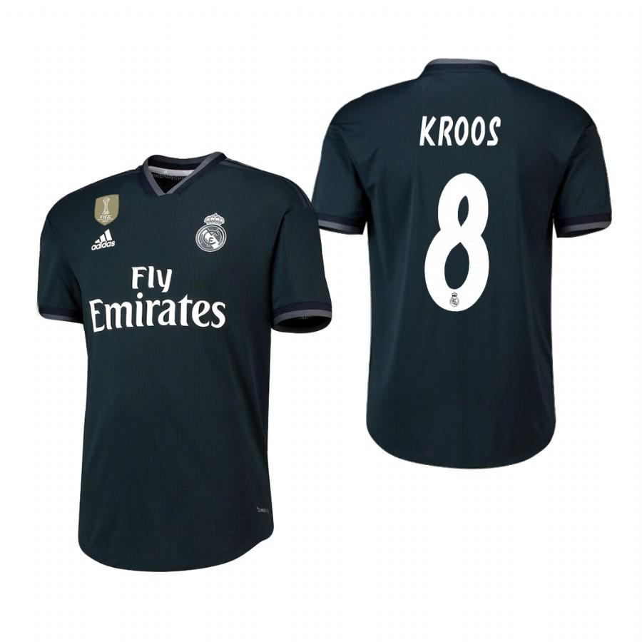 Real Madrid 18-19 Dark Navy Toni Kroos #8 Away Jersey Mens - S