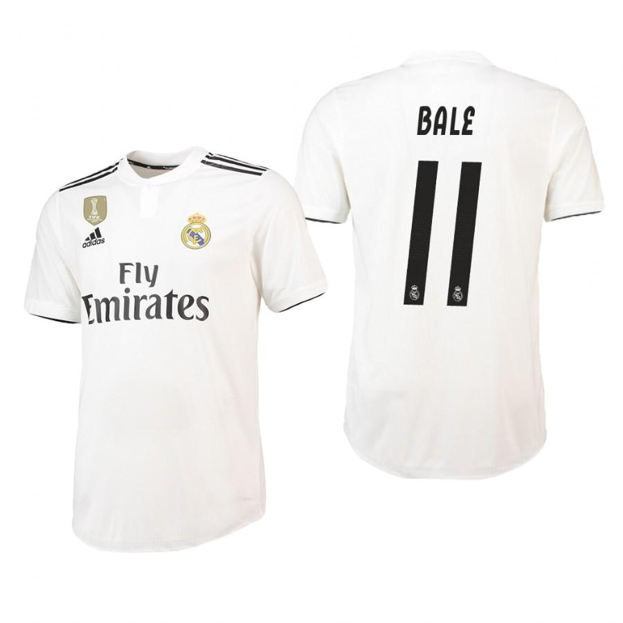 Real Madrid 18-19 White Gareth Bale #11 Home Jersey Mens - S