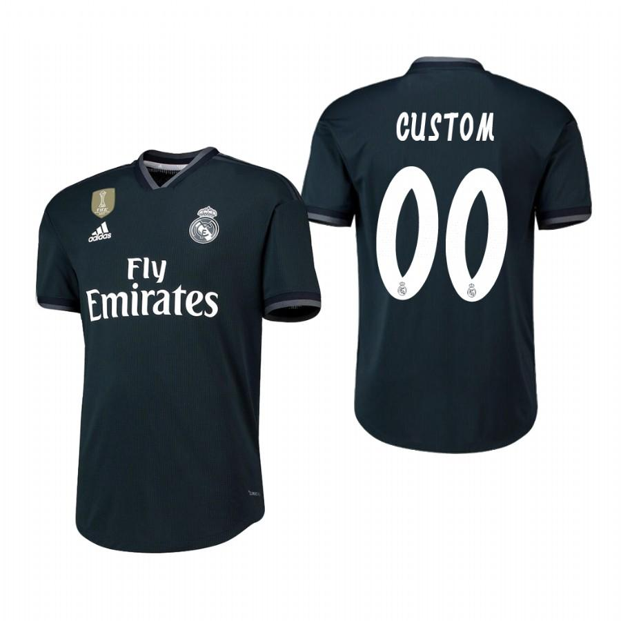 Real Madrid Custom 18-19 Dark Navy Away Jersey Mens - S