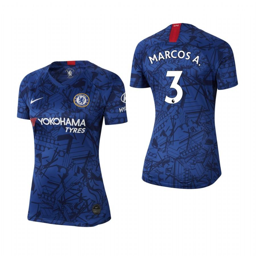 Womens Chelsea 19-20 Marcos Alonso #3 Home Jersey - Blue - S