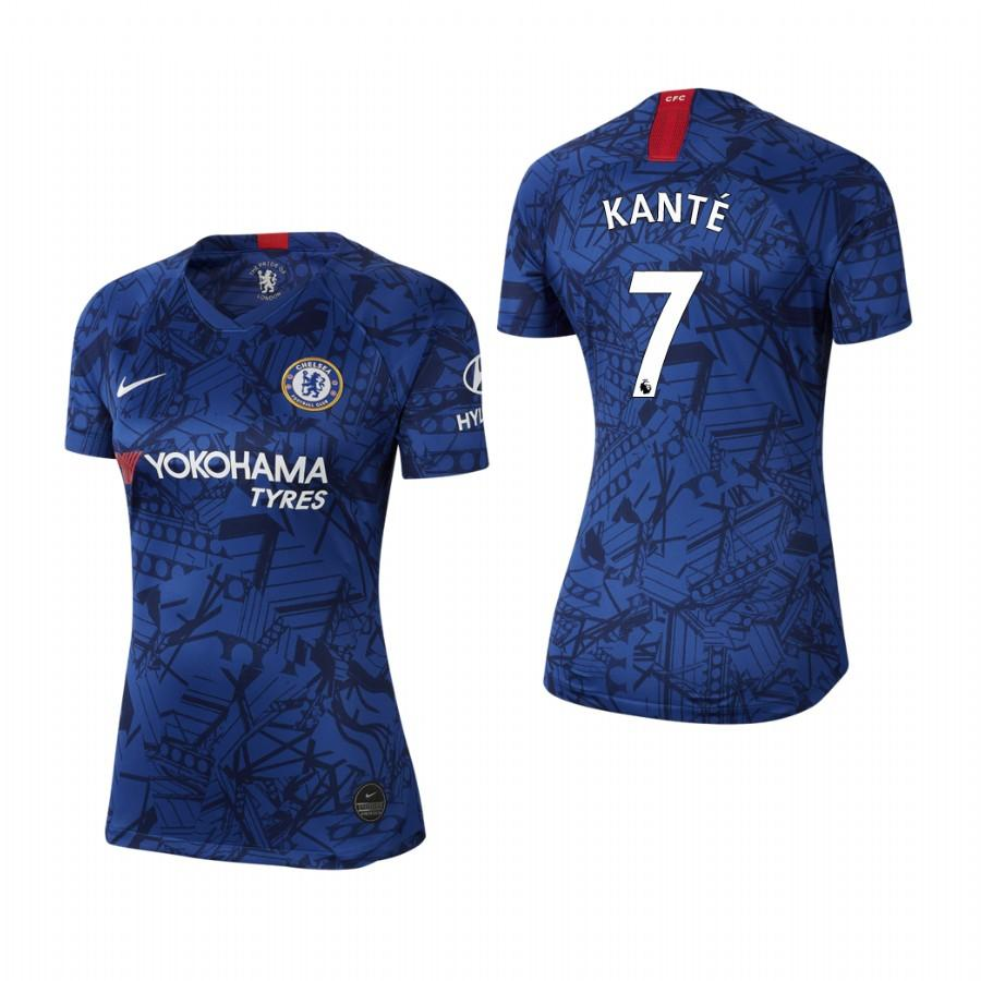 Womens Chelsea 19-20 NGolo Kante #7 Home Jersey - Blue - S