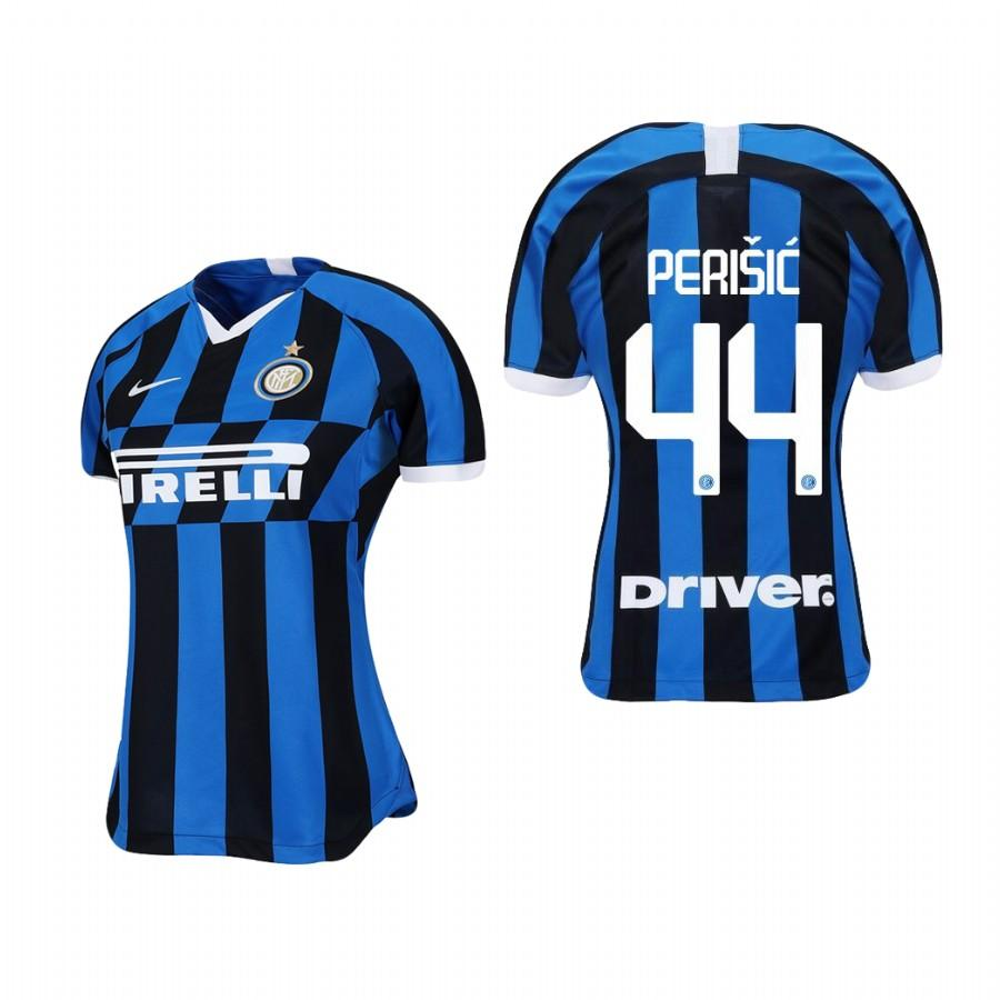 Womens Internazionale Milano 19-20 Ivan Perisic #44 Home Jersey - Blue Black - S