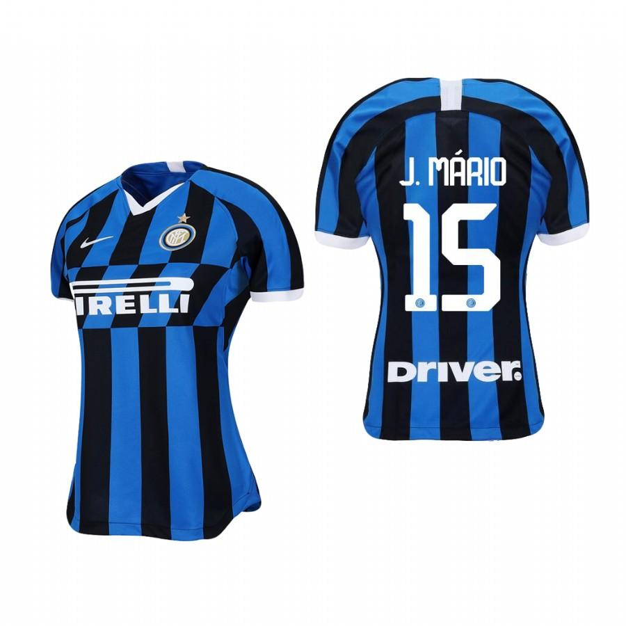 Womens Internazionale Milano 19-20 Joao Mario #15 Home Jersey - Blue Black - S