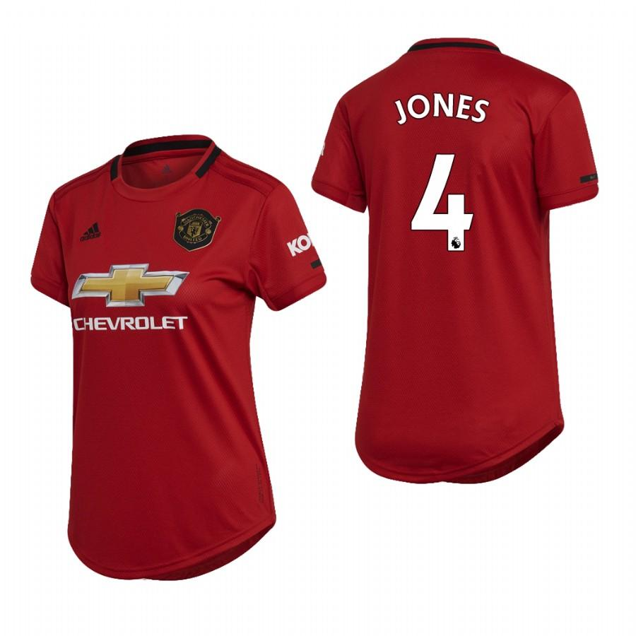 Womens Manchester United 19-20 Phil Jones #4 Home Jersey - Red - S