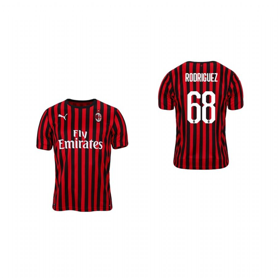 Youth AC Milan 19-20 Ricardo Rodriguez #68 Home Jersey - Red Black - XXS