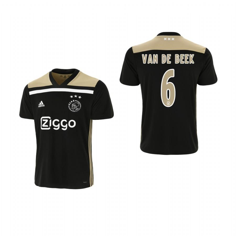 Youth Ajax 18-19 Black Donny van de Beek #6 Away Jersey - XXS