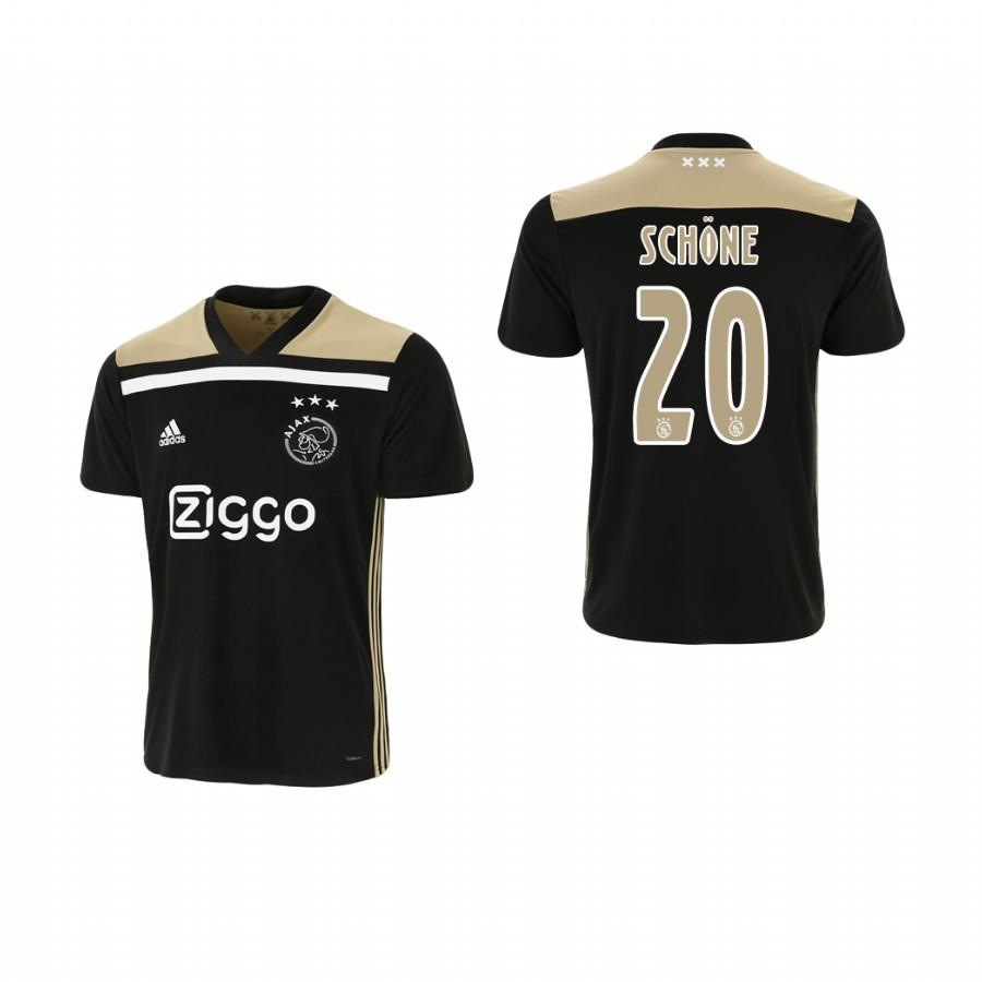 Youth Ajax 18-19 Black Lasse Schone #20 Away Jersey - XXS