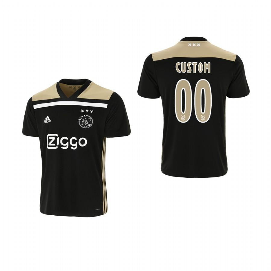 Youth Ajax Custom 18-19 Black Away Jersey - XXS