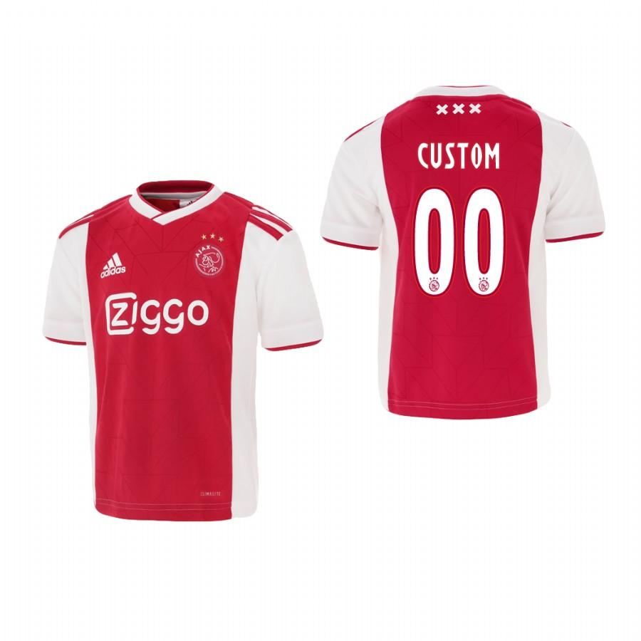 Youth Ajax Custom 18-19 Red White Home Jersey - XXS