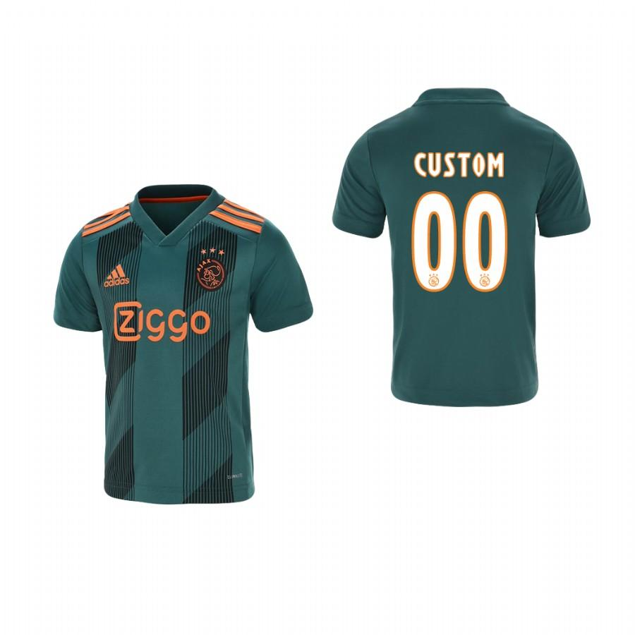 Youth Ajax Custom 19-20 Away Jersey - Green - XXS