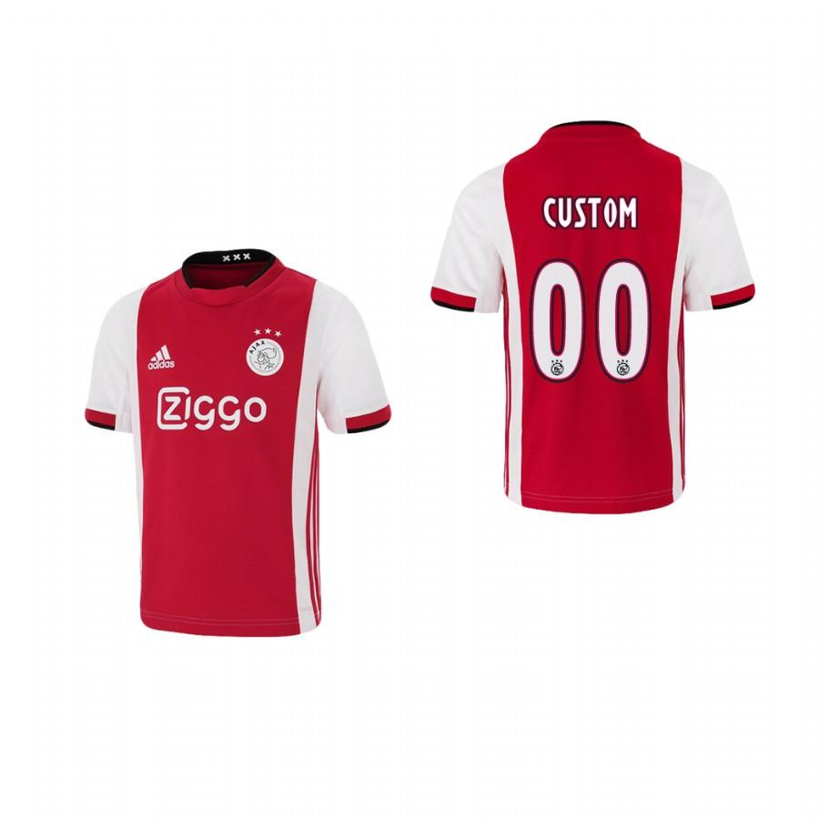 Youth Ajax custom 19-20 Home Jersey - Red White - XXS