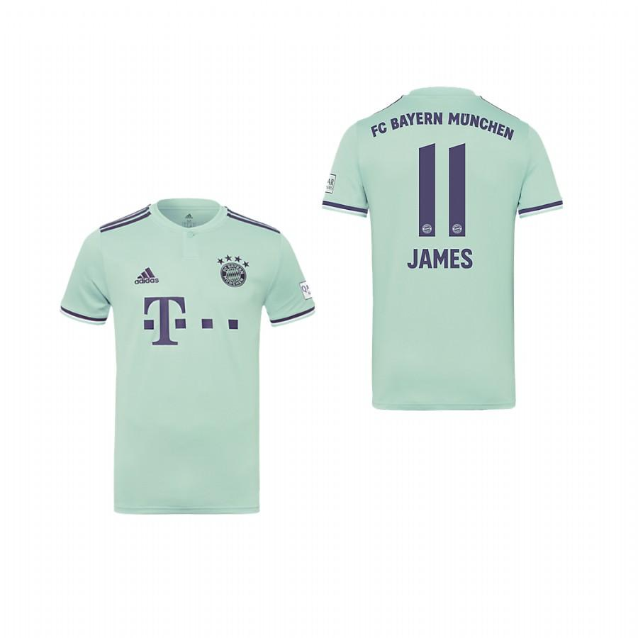 Youth Bayern Munich 18-19 Ash Green James Rodriguez #11 Away Jersey - XXS