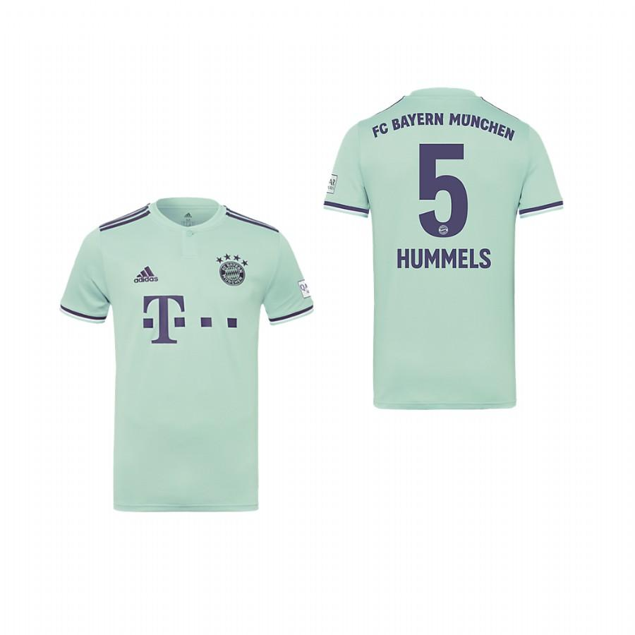 Youth Bayern Munich 18-19 Ash Green Mats Hummels #5 Away Jersey - XXS