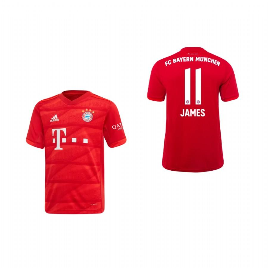Youth Bayern Munich 19-20 James Rodriguez #11 Home Jersey - Red - XXS