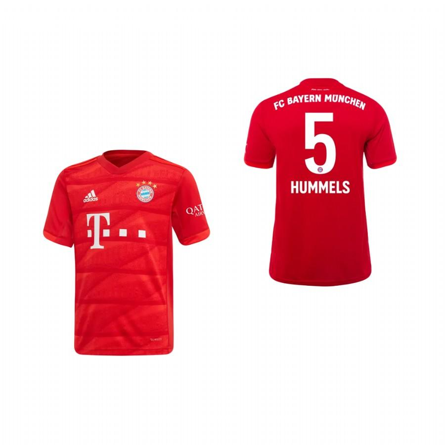 Youth Bayern Munich 19-20 Mats Hummels #5 Home Jersey - Red - XXS