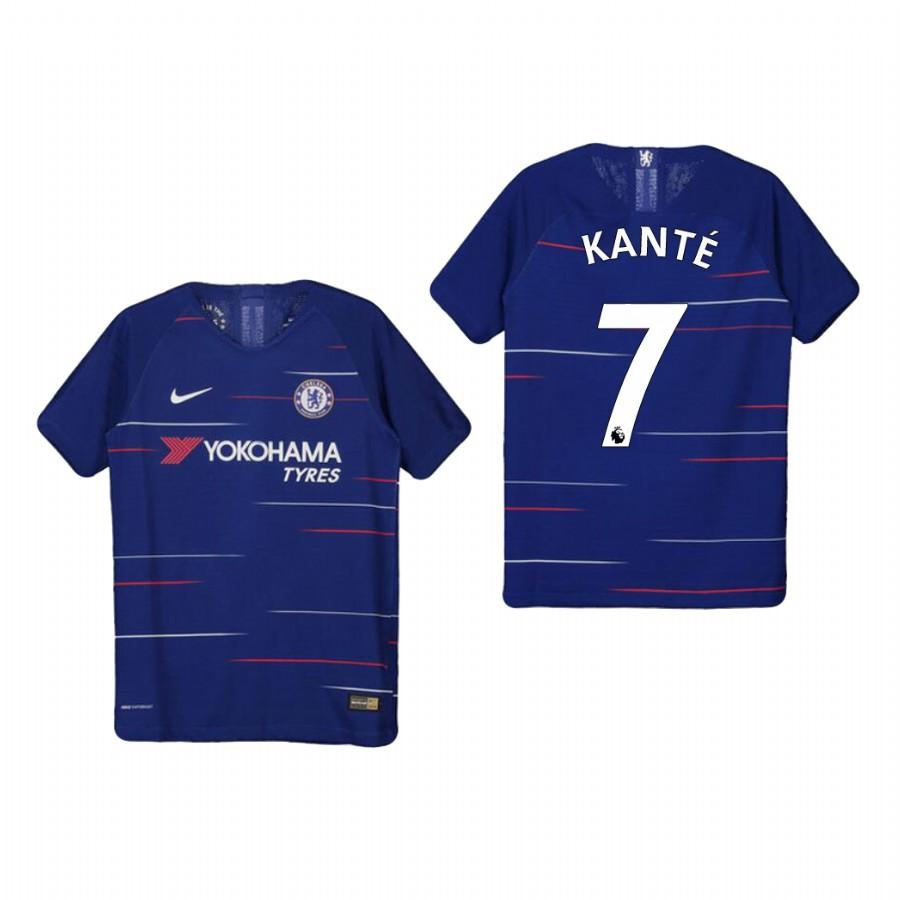 Youth Chelsea 18-19 Blue NGolo Kante #7 Home Jersey - XXS