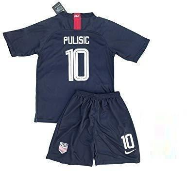 Youth Christian Pulisic Jersey And Shorts #10 Away 2018/2019 Soccer Navy - XXS