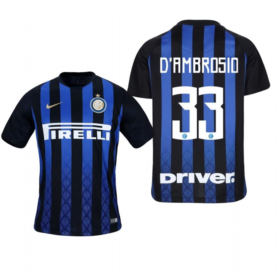 Youth Internazionale Milano 18-19 Blue Black Danilo DAmbrosio #33 Home Jersey - XXS