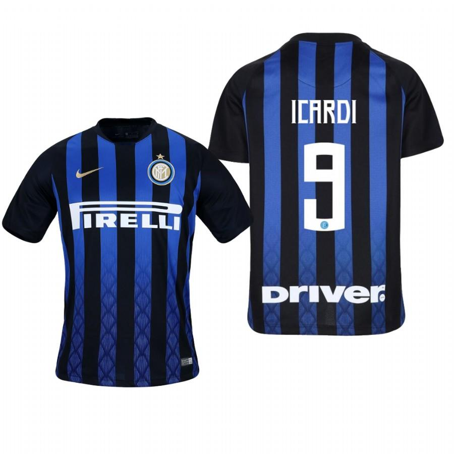 Youth Internazionale Milano 18-19 Blue Black Mauro Icardi #9 Home Jersey - XXS