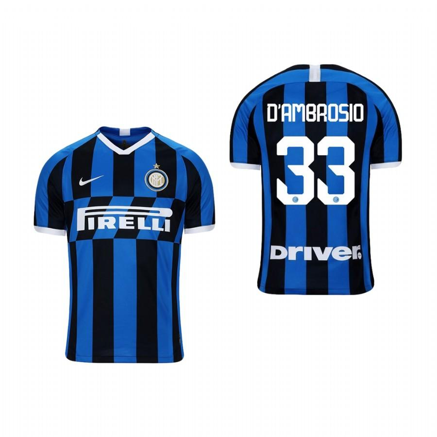 Youth Internazionale Milano 19-20 Danilo DAmbrosio #33 Home Jersey - Blue Black - XXS
