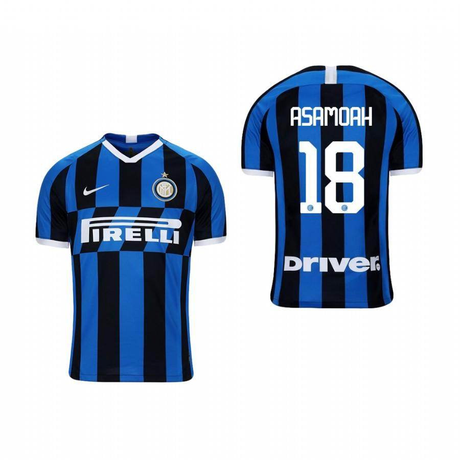 Youth Internazionale Milano 19-20 Kwadwo Asamoah #18 Home Jersey - Blue Black - XXS