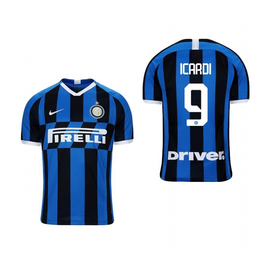 Youth Internazionale Milano 19-20 Mauro Icardi #9 Home Jersey - Blue Black - XXS