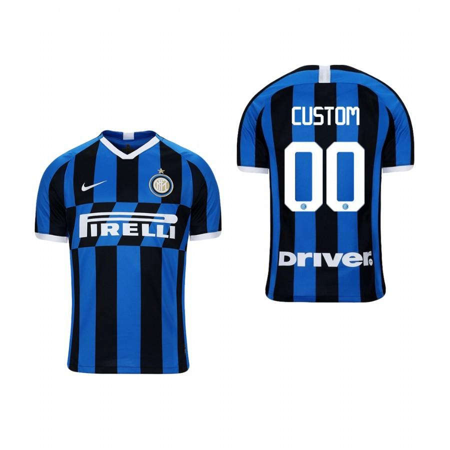Youth Internazionale Milano Custom 19-20 Home Jersey - Blue Black - XXS