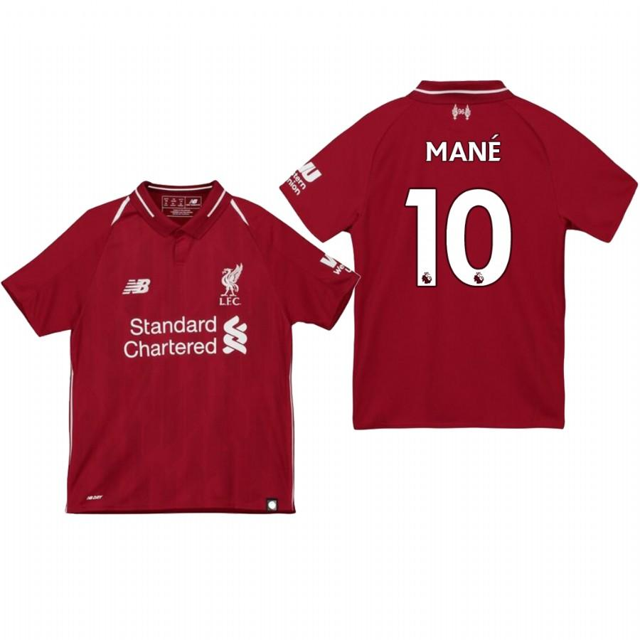 Youth Liverpool 18-19 Red Sadio Mane #10 Home Jersey - XXS